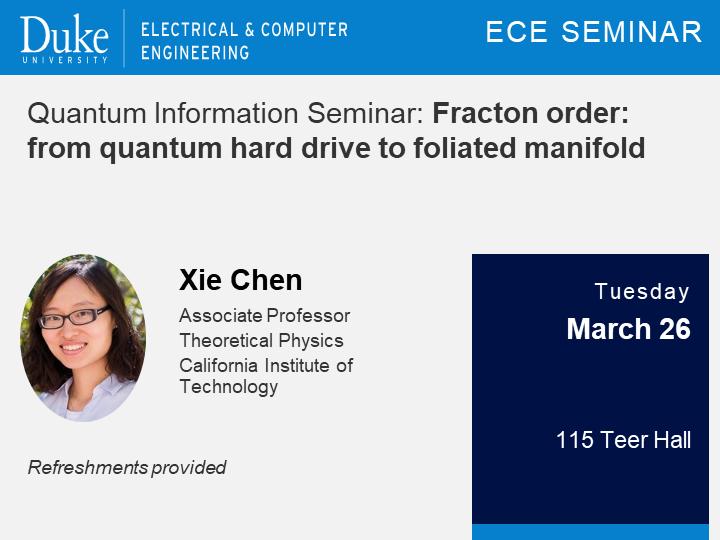 Quantum Information Seminar