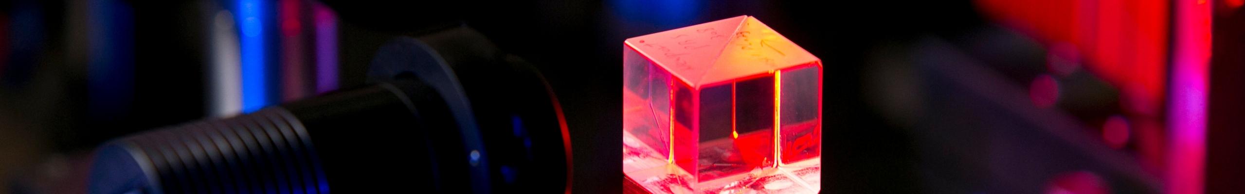 neon cube in Kim lab