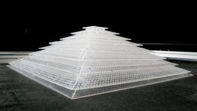 3D acoustic cloaking device