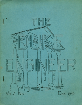 One of the first covers of the DukEngineer from December, 1940