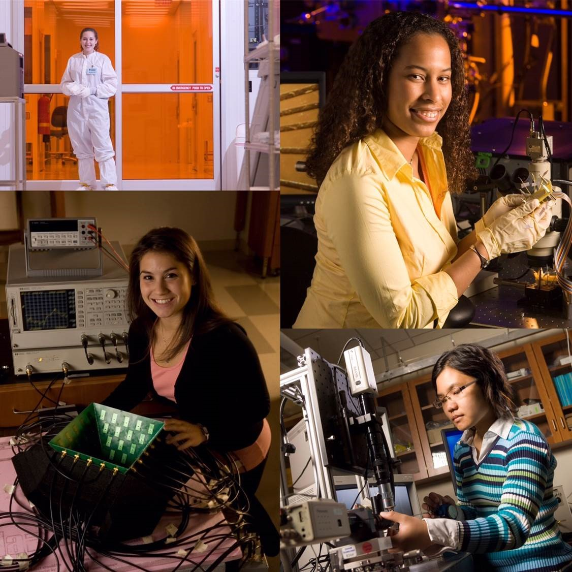 A photo collage of women in Engineering