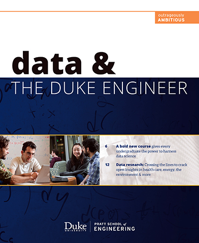 Data & the Duke Engineering publication cover