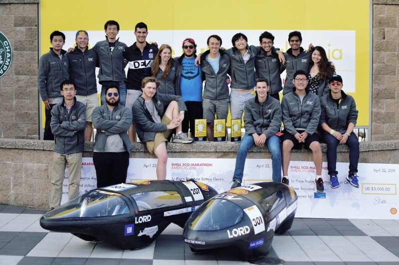 Duke Electric Vehicles won first place for its electric vehicle, first place for its hydrogen fuel cell vehicle, and a Technical Innovation Award for its hydrogen fuel cell research and development